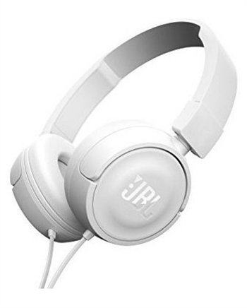 JBL T450 Headset with Mic  (White, On the Ear)